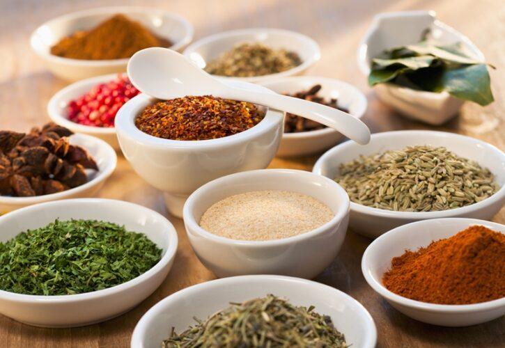 多くの種類の香辛料