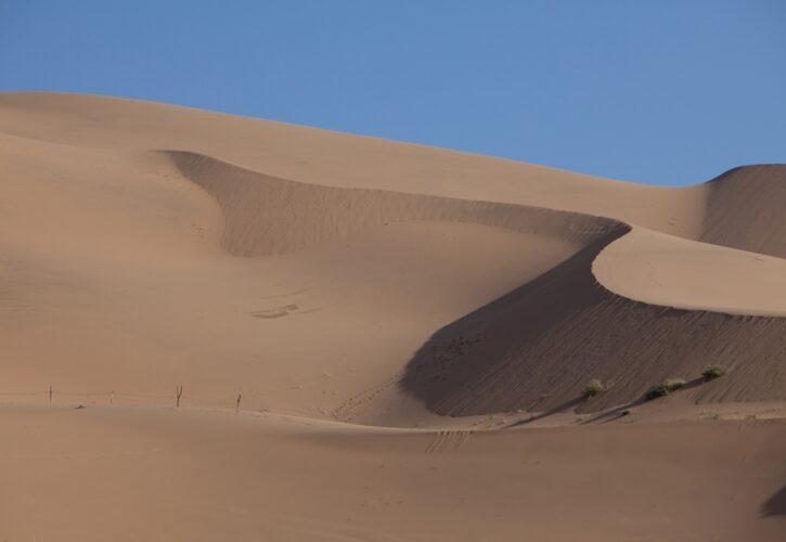 荒涼とした砂漠の真ん中