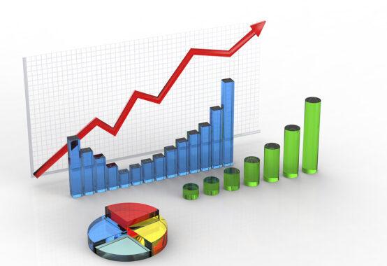 折れ線グラフと棒グラフ